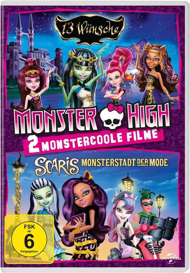 Monster High - 13 Wünsche / Scaris - Monsterstadt der Mode (2 DVDs)