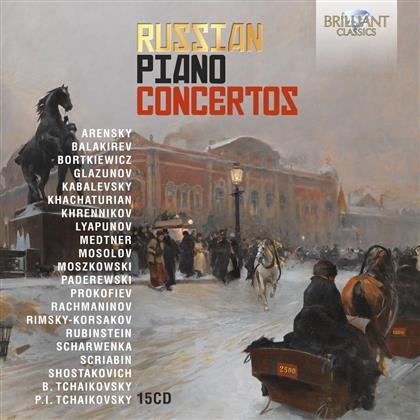 Russian Piano Concertos (15 CDs)