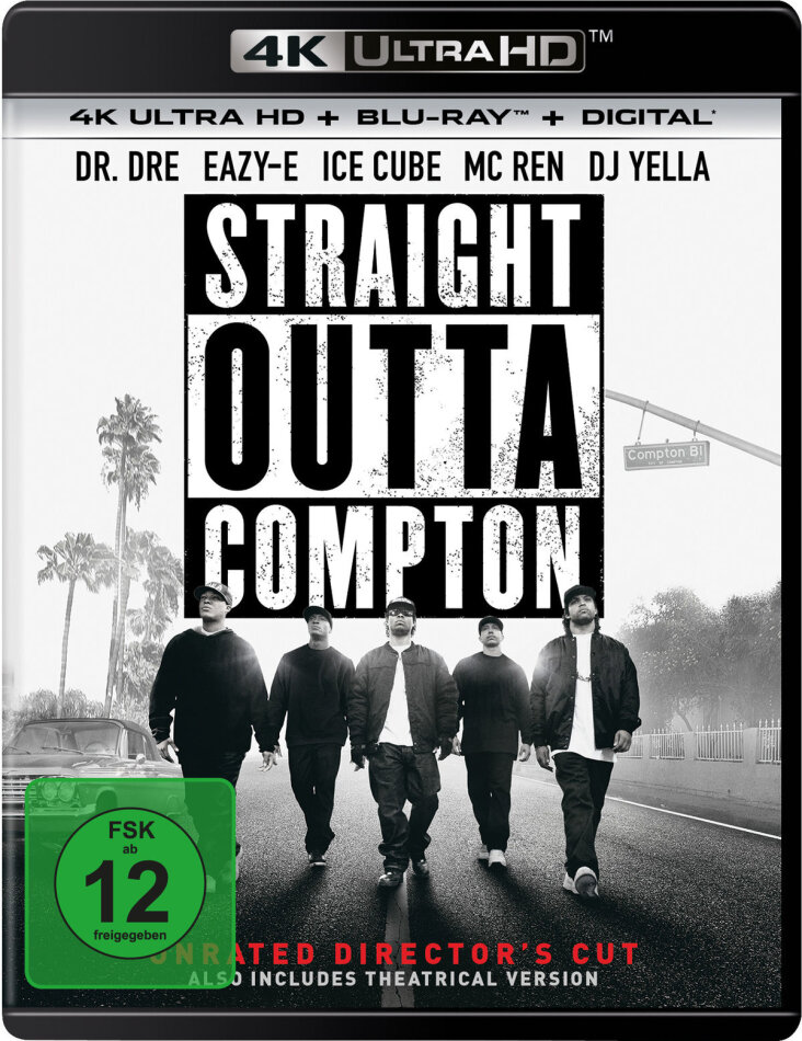 Straight Outta Compton (2015) (Director's Cut, 4K Ultra HD + Blu-ray)
