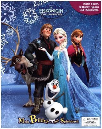 Frozen - Die Eiskönigin: Mein Bilder- und Spielebuch - 1 Buch + 12 Figuren + 1 Spielmatte
