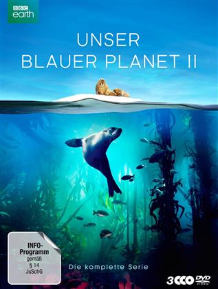 Unser blauer Planet 2 - Die komplette Serie (2017) (BBC Earth, Schuber, Digipack, Uncut, 3 DVD)