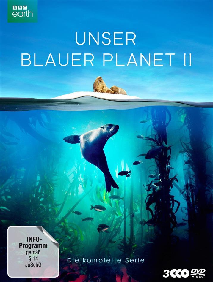 Unser blauer Planet 2 - Die komplette Serie (2017) (BBC Earth, Schuber, Digipack, Uncut, 3 DVDs)