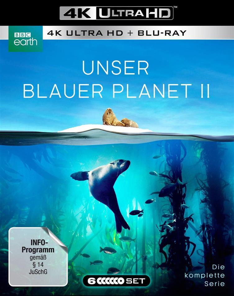 Unser blauer Planet 2 - Die komplette Serie (2017) (BBC Earth, Schuber, Uncut, 3 4K Ultra HDs + 3 Blu-rays)