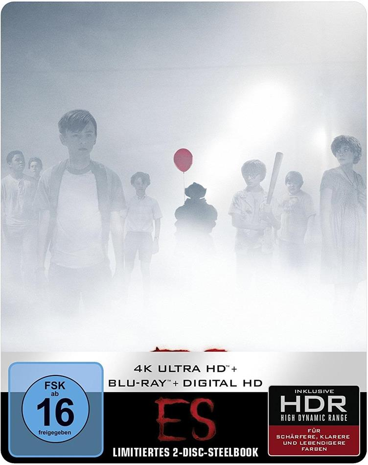 Es (2017) (Limited Edition, Steelbook, 4K Ultra HD + Blu-ray)
