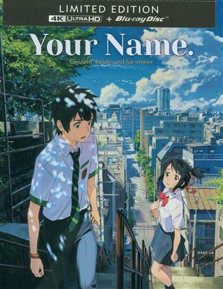 Your Name. - Gestern, heute und für immer (2016) (Limited Edition, Steelbook, 4K Ultra HD + Blu-ray)