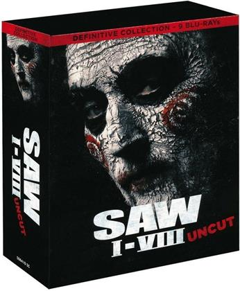 Saw 1-8 - Definitive Collection (Uncut, 9 Blu-rays)