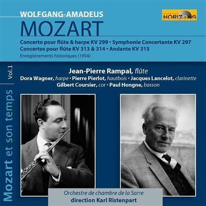 Wolfgang Amadeus Mozart (1756-1791), Jean-Pierre Rampal, Karl Ristenpart & Orchestre de Chambre de La Sarre - Mozart & Seine Zeit Vol. 1 - Mozart Et Son Temps Vol. 1 (2 CDs)