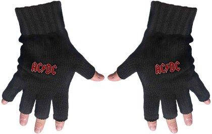 AC/DC Unisex Fingerless Gloves - Classic Red Logo