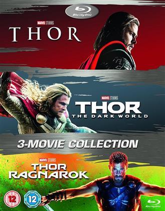 Thor (2011) / Thor 2- The Dark World (2013) / Thor 3 - Ranarok (2017) (3 Blu-ray)