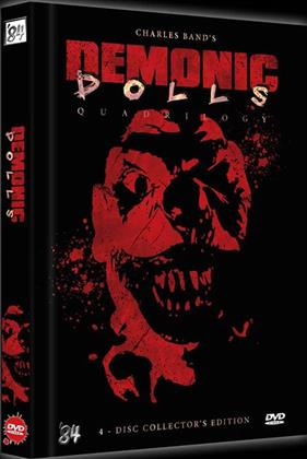 Demonic Dolls 1-4 - Quadrilogy (Black Edition, Limited Edition, Mediabook, Uncut, 4 DVDs)