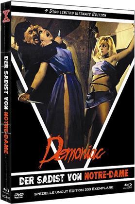 Demoniac - Der Sadist von Notre-Dame (1974) (Eurocult Collection, Cover D, Limited Ultimate Edition, Mediabook, Uncut, Blu-ray + 3 DVDs)