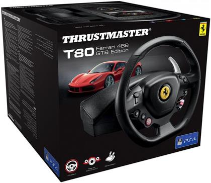 Thrustmaster - T80 Ferrari 488 GTB Edition Wheel [PS5/PS4/PC]