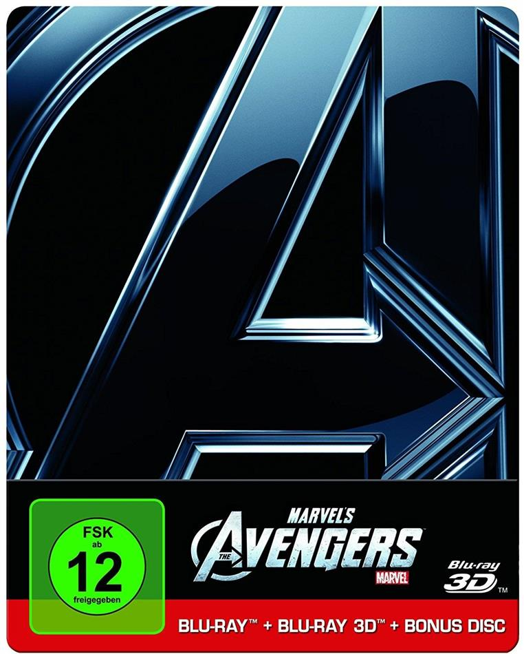 The Avengers (2012) (Limited Edition, Steelbook, Blu-ray 3D + 2 Blu-rays)