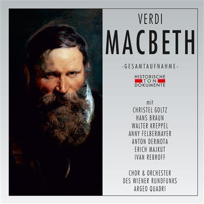 Giuseppe Verdi (1813-1901), Christel Goltz, Hans Braun, Argeo Quadri & Orchester des Wiener Rundfunks - Macbeth - Aufnahme 1960 (2 CDs)