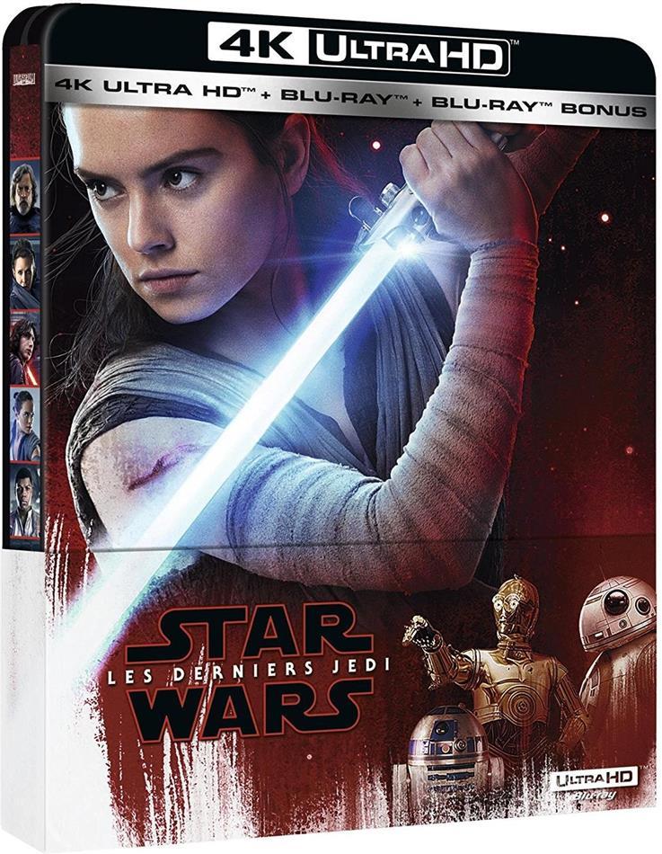 Star Wars - Episode 8 - Les derniers Jedi (2017) (Steelbook, 4K Ultra HD + 2 Blu-rays)