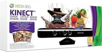 XBOX360 Kinect Sensor - (inklusive Adventures / Gunstringer / Fruit Ninja)