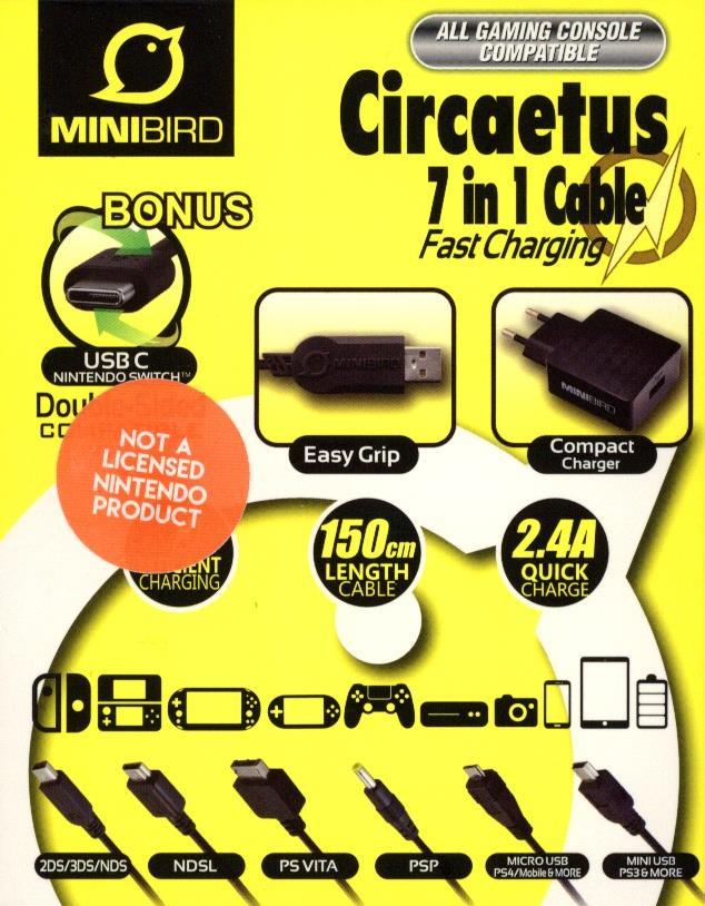 Mini Bird Circaetus 7 in 1 Cable