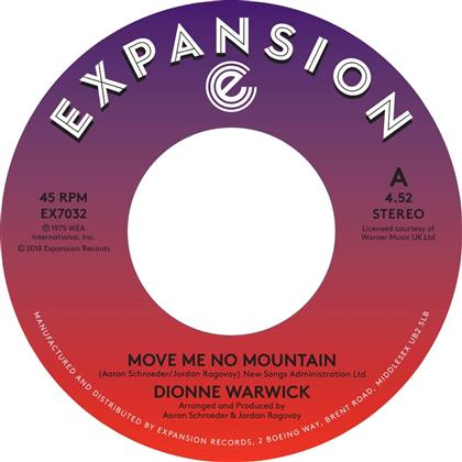 """Dionne Warwick - Move Me No Mountain / (I'm) Just Being Myself (7"""" Single)"""