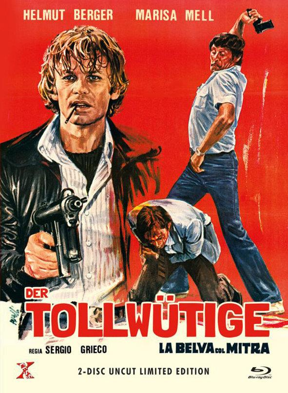 Der Tollwütige - La belva col mitra (1977) (Cover B, Limited Edition, Mediabook, Restaurierte Fassung, Uncut, Blu-ray + DVD)