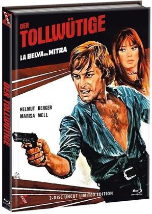 Der Tollwütige - La belva col mitra (1977) (Cover C, Limited Edition, Mediabook, Uncut, Blu-ray + DVD)