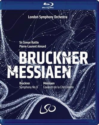 London Symphony Orchestra, Sir Simon Rattle & Pierre-Laurent Aimard - Bruckner - Symphony No. 8 / Messiaen - Couleurs De La (Blu-ray + DVD)