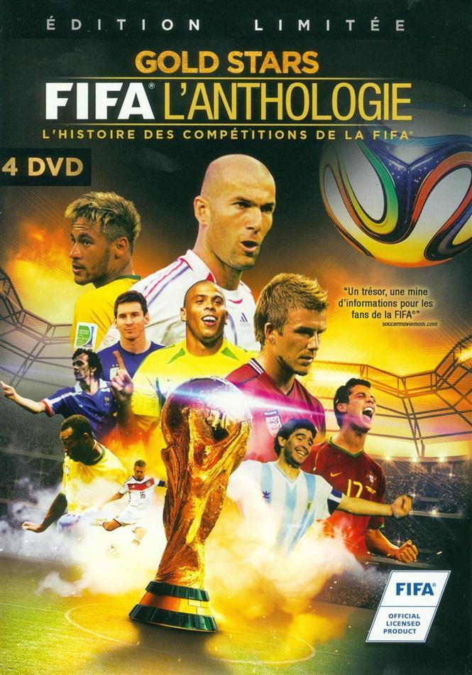 FIFA l'Anthologie - Gold Stars - L'histoire des compétitions de la FIFA (Limited Edition, 4 DVDs)