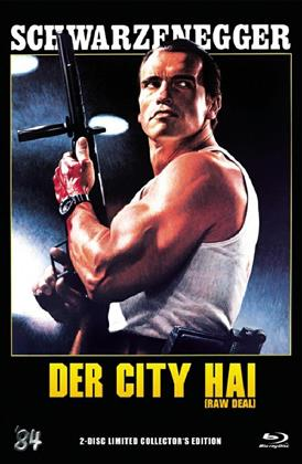Der City Hai - (Raw Deal) (1986) (Grosse Hartbox, Cover C, Collector's Edition, Limited Edition, Uncut, Blu-ray + DVD)