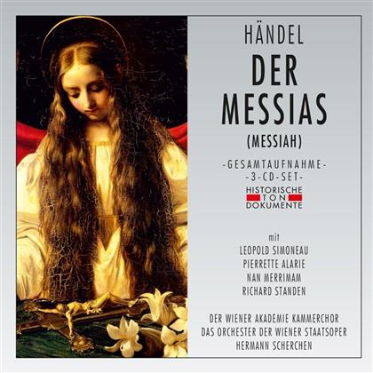 G. F. Haendel, Hermann Scherchen, Léopold Simoneau & Chor und Orchester der Wiener Staatsoper - Der Messias (Messiah) - Gesamtaufnahme In Englischer Sprache (3 CDs)