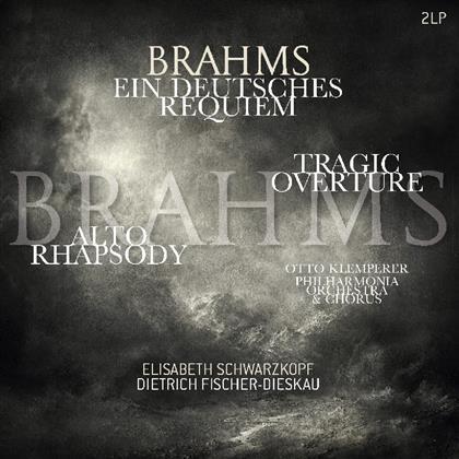 Dietrich Fischer-Dieskau, Elisabeth Schwarzkopf, Johannes Brahms (1833-1897), Otto Klemperer & Philharmonia Orchestra - Ein Deutsches Requiem/Alt Rhapsodie/Tragische Ouvertüre (Vinyl Passion, 2 LPs)