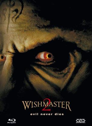Wishmaster 2 - Evil Never Dies (1999) (Cover A, Limited Edition, Mediabook, Uncut, Blu-ray + DVD)