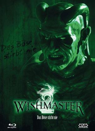 Wishmaster 2 - Das Böse stirbt nie (1999) (Cover B, Limited Edition, Mediabook, Uncut, Blu-ray + DVD)