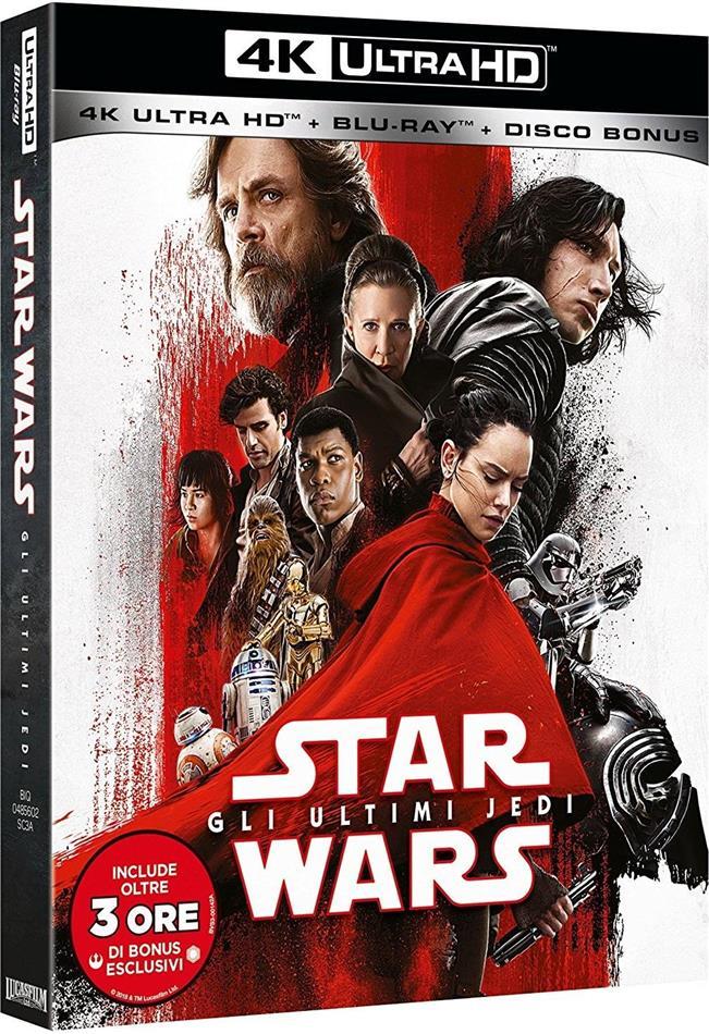 Star Wars - Episode 8 - Gli ultimi Jedi (2017) (4K Ultra HD + 2 Blu-rays)
