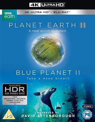 Planet Earth 2 - A new world revealed / Blue Planet - Take a deep breath (BBC, 4 4K Ultra HDs + 6 Blu-ray)