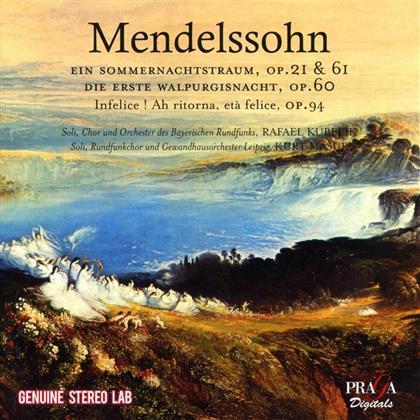 Felix Mendelssohn-Bartholdy (1809-1847), Rafael Kubelik & Orchester des Bayerischen Rundfunks - Midsummer's Night Dream - Ein Sommernachtstraum Op. 21