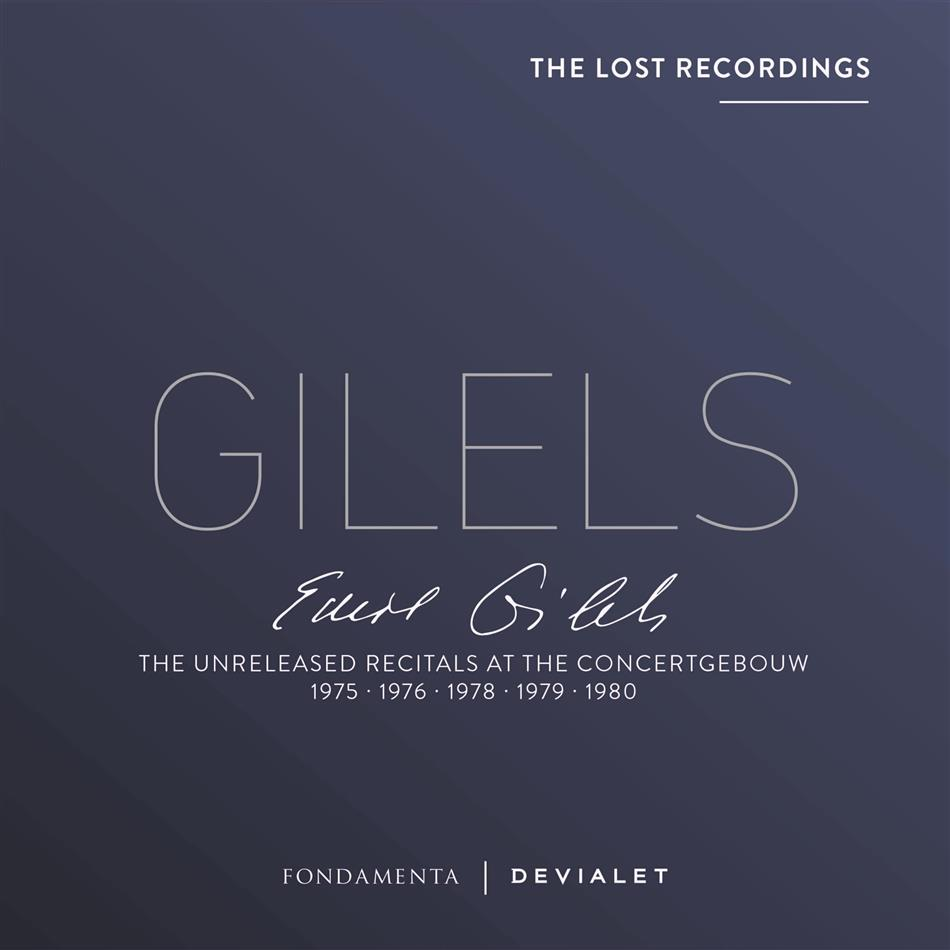 Emil Gilels - Unreleased Recitals At The Concertgebouw - 1975 - 1976 - 1978- 1979 - 1980 - The Lost Recordings (5 CDs)