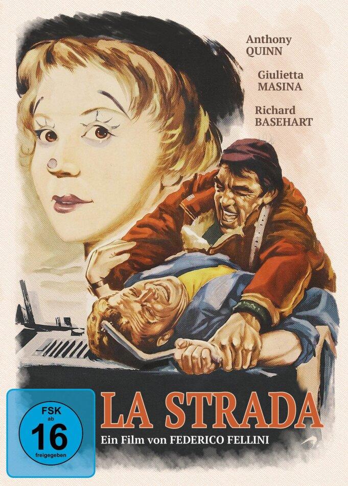 La Strada - Das Lied der Strasse (1954) (Filmjuwelen, Edizione Limitata, Mediabook, Blu-ray + DVD)