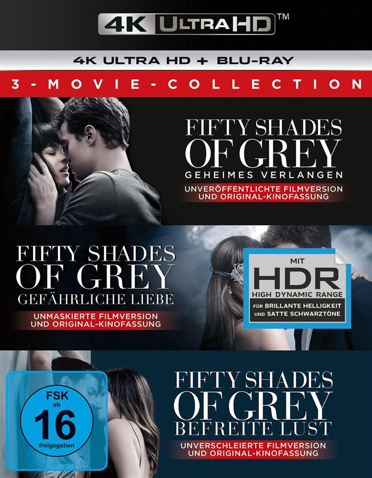 Fifty Shades of Grey - 3-Movie Collection (3 4K Ultra HDs + 3 Blu-rays)