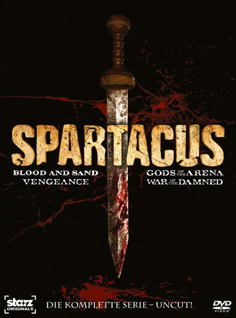 Spartacus - Blood and Sand / Gods of the Arena / Vengeance / War of the Damned - Die komplette Serie (Uncut, 16 DVDs)
