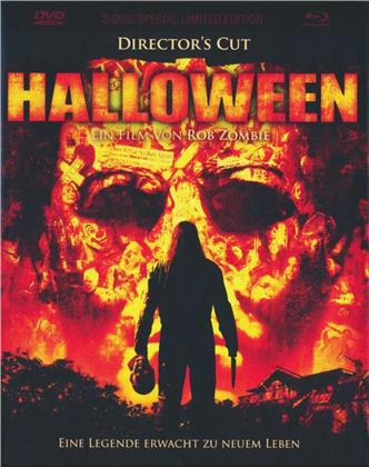 Halloween (2007) (Cover A, Director's Cut, Limited Edition, Mediabook, Uncut, Blu-ray + DVD)