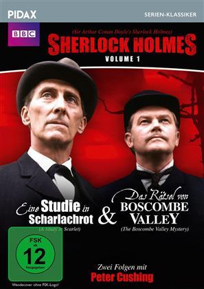 Sherlock Holmes - Volume 1: Zwei Folgen mit Peter Cushing - Eine Studie in Scharlachrot & Das Rätsel von Boscombe Valley (Pidax Serien-Klassiker, n/b)
