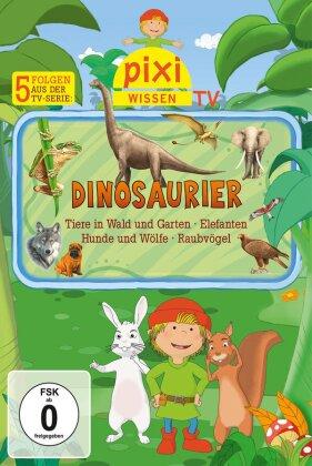Dinosaurier/Tiere im Wald und Garten/Elefanten/Hunde und Wölfe/Raubvögel - Pixi Wissen TV