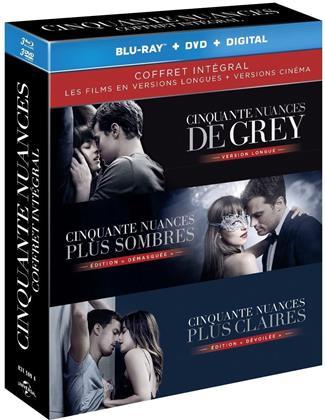 Cinquante nuances - Trilogie - Coffret intégral (Extended Edition, Kinoversion, 3 Blu-rays + 3 DVDs)