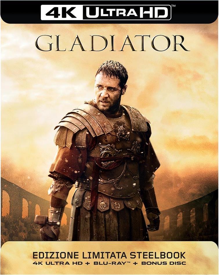 Gladiator (2000) (Kinoversion, Limited Edition, Langfassung, Steelbook, 4K Ultra HD + 2 Blu-rays)