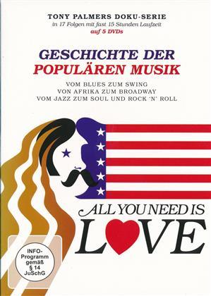 All you need ist Love - Geschichte der populären Musik (5 DVDs)