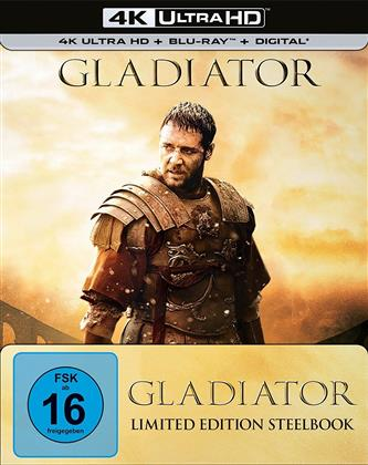 Gladiator (2000) (Extended Edition, Versione Cinema, Edizione Limitata, Steelbook, 4K Ultra HD + Blu-ray)