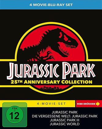 Jurassic Park Collection - 4-Movie-Set (25th Anniversary Edition, Limited Edition, 4 Blu-rays)