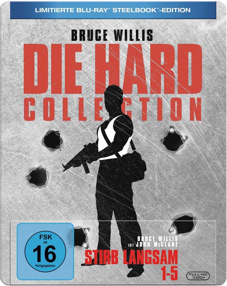 Die Hard Collection - Stirb langsam 1-5 (Limited Edition, Steelbook, 5 Blu-rays)