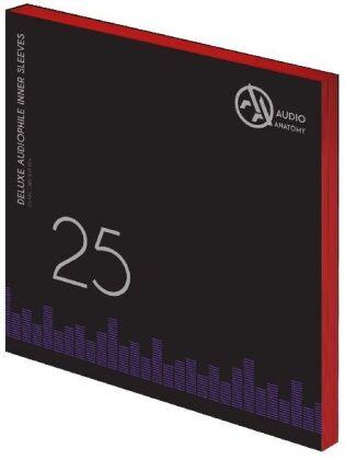 Deluxe Schallplatten Innenhüllen Antistatisch Rot - 25 Stück