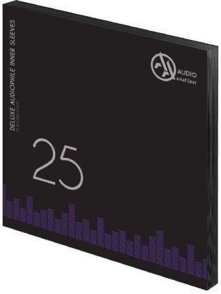 Deluxe Schallplatten Innenhüllen Antistatisch Schwarz 80 gr - 25 Stück