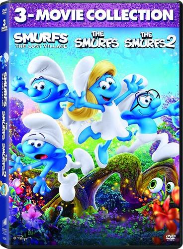 The Smurfs 2011 The Smurfs 2 2013 Smurfs The Lost Village 2017 3 Movie Collection 2 Dvds Cede Com
